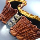 Brown Snake Skin Ruffles Stretch Belt  1BTB1340703