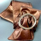Bronze Large Silver Buckle Wrap Belt  1BTB261728L