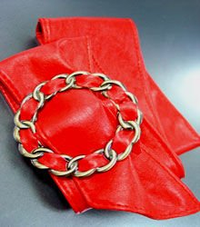 Red Antique Buckle Wrap Belt 1BTB0012432