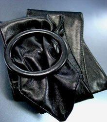 Black Round Buckle Wrap Belt  1BTB0012434