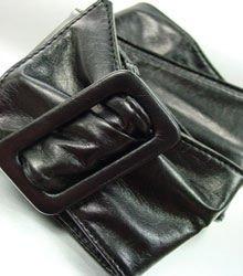 Black Buckle Wrap Belt  1BTB1038008