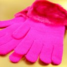 Hot Pink Acrylic Faux Fur Glove 1GLOVE2699
