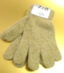 Beige Acrylic & Angora Fur Glove  1GLOVE466