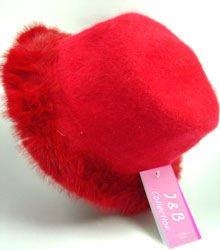 Red Angora with Rabbit Fur Trim Fashion Hat 10H400205