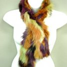 Multi Color Genuine FOX Fur Scarf