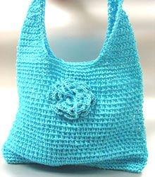 Blue Metallic Weave HoBo Satchel Bag   Handbag