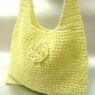 Creme Metallic Weave HoBo Satchel Bag  Handbag