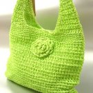 Green Metallic Weave HoBo Satchel Bag  Handbag