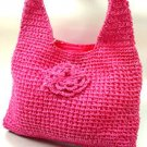 Hot Pink Metallic Weave HoBo Satchel Bag   Handbag