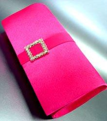 Pink Satin Square Crystals Fashion Bag  Handbag  131292