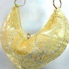 Gold Satin Sequins Beads HoBo Handbag    137003