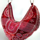Wine Satin Sequins Beads HoBo Handbag   137003