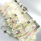 Winter White Sequins Cha Cha Bag Handbag