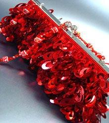 Red Confetti Sequins Cha Cha Bag Handbag 14008698