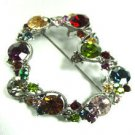 Multi Colored Swarovski Crystals Heart Brooch  1bp499105