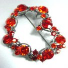 Red Swarovski Crystals Heart Brooch  1bp499105