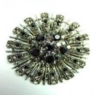 Black Swarovski Crystals Brooch Pin    1BP49971