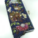 Blue Crystal Beads & Sequins Handbag Clutch BoHo 1BAG007