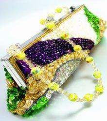 Mardi Gras Multi Sequins Fashion Handbag BAG0079