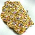 Gold Sequins & Multi Buttons Shell Handbag  Clutch 1BAG0503