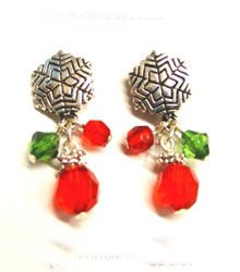 1 Dozen Earrings Christmas Snowflakes  SOLD OUT