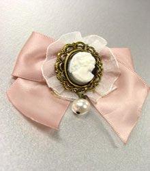 1 Dozen Pink Ribbon Cameo Brooch Pins 1BP001382