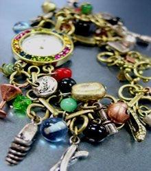 Multi Beads Antique Charms Bracelet Watch 1WB235008