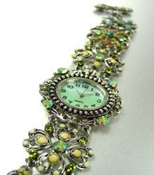 Green Crystals Antique Victorian Watch Replica 1W353259