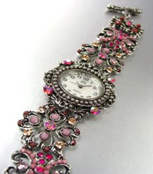Pink Crystals Antique Victorian Watch Replica 1W353259