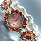 Red Crystals Enamel Bracelet Watch 1W353256