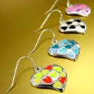 Dozen Color Enamel Heart Dangle Earrings  1DE400129
