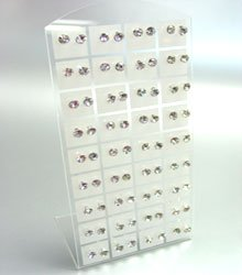 Clear Crystals 36 Pairs Stud Earrings  1DE400964