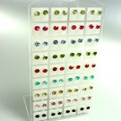 Colorful Crystals 36 Pairs Stud Earrings  1DE400964