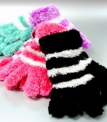 Dozen Assorted Striped Magic Gloves  1ETB8503