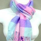 Colorful Dozen Plaid Print Faux Wool Scarf