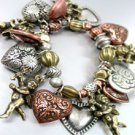 Multi Antique Charms Stretch Bracelet  1B0177683