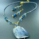 Blue Marble Stone Necklace Set