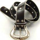 Black Crystals Studded Fashion Belt