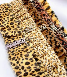 Dozen Brown Fur Animal Print Belts