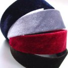 Dozen Assorted Color Velvet Head Bands