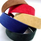 Dozen Assorted Suede Feel Head Bands