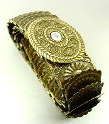 Antique Gold Stretch Scale Fashion Belt