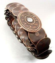Antique Copper Stretch Scale Fashion Belt