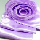 Lavender Satin Scarf Belt Flower Wrap
