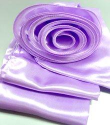 Lavender Satin Scarf Belt Flower Wrap
