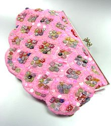 Pink Sequins Multi Buttons Shell Bag  0503