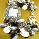 Black Pearls Beads Shells Cha Cha Watch