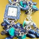 Blue Pearls Beads Shells Cha Cha Watch