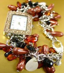 Brown Pearls Beads Shells Cha Cha Watch