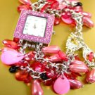 Pink Pearls Beads Shells Cha Cha Watch